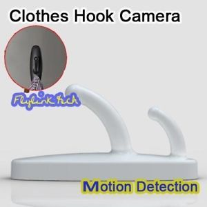 Home Security Hidden Spy Wireless Clothes Hook Surveillance Nanny Camera DV DVR