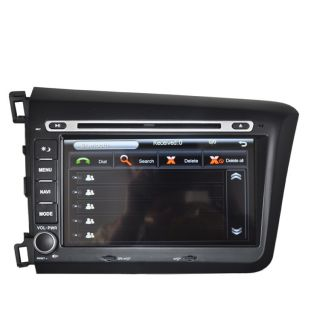 "8"" Car GPS Navigation DVD Player Bluetooth TV iPod Radio for 2012 Honda Civic"