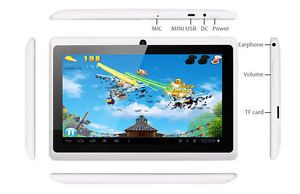 New White 7 inch Dual Core Android Tablet Android 4 1 RAM 512MB HD 4GB HDMI