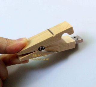 Wooden Clamps USB Drive 1GB 2GB 4GB 8GB 16GB Memory Flash Pendrive Stick 2 0