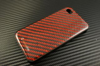 Real Carbon Fiber Kevlar Apple iPhone 4 4S Hard Case Cover