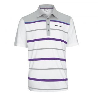 2013 TaylorMade Engineered Stripe Golf Polo Shirt by Ashworth Z67130
