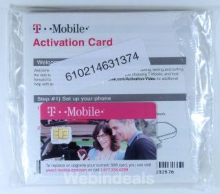 T Mobile Prepaid Micro Sim Card Activation Starter Kit for Unlocked GSM Phones