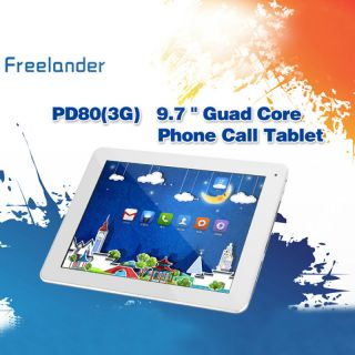 "9 7"" Freelander PD80 3G Phablet Tablet Android Quad Core HDMI 16GB Case Bundle"
