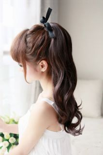 Womens Girls Lady Sexy Long Wavy Curly Ponytail Pony Hair Piece Extensions JJ13