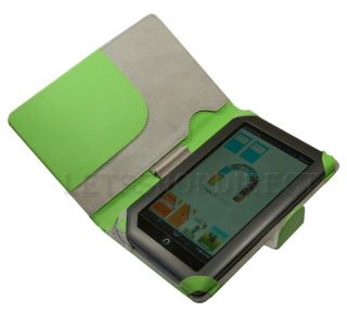 Barnes Noble Nook Color Green Leather Case Cover Bag