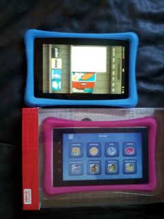 Nabi or Kindle Fire Case Bumper Silicone Cover New in Box Blue or Pink