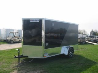 7505 New 2012 United Enclosed Motorcycle Trailer 6x12' 2995 GVW SA XLMTV Ramp