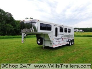 Silver Star 3 Horse Trailer Aluminum Supreme Model $127 MO No Hidden Reserve