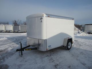 8589 New 2014 Atlas Enclosed Cargo Trailer 6x10' 3K GVW Ramp Door Side Door LEDs