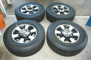"2013 Ford F350 Super Duty 18"" Wheels Michelin Tires F250 Lariat Polished"