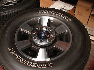 "4 2013 18"" Ford F 250 SD 6 Spoke Factory Wheels Michelin Tires"