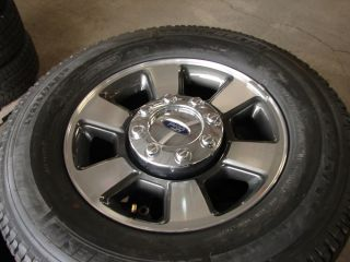"4 18"" Ford F 250 350 SD 6 Spoke Factory 8 Lug Wheels Rims Michelin Tires 3843"
