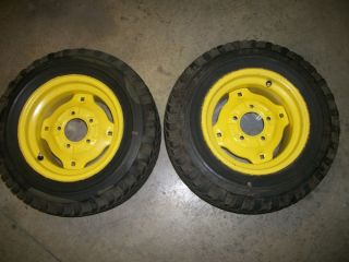 John Deere Rims with Goodyear Tires 23 x 8 5 12 C 15741