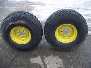 2 John Deere 755 855 Tractor Used Rear 33x12 5x15 Goodyear Tires on Rims 091