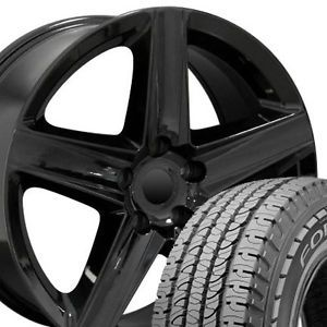 "20"" Rim Fits Jeep Grand Cherokee Wheels Goodyear Tires Black Wrangler SRT"