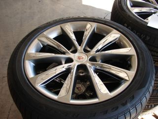 "4 19"" 2013 Cadillac XTS Original 10 Spoke Wheels with Goodyear Tires"