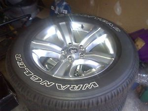 "4 2013 20"" Dodge RAM 1500 5 Spoke Polished Factory Wheels Goodyear Tires"