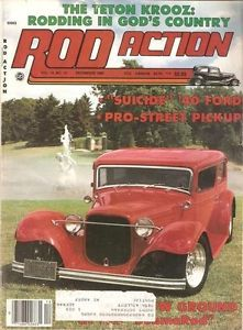 December 1985 Rod Action 1932 Plymouth 3 Window Coupe 1940 Ford Kurt's Hot Rods