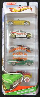 Hot Wheels Holiday Hot Rods Target Exclusive New 5 Car Set 2011 Sold Out