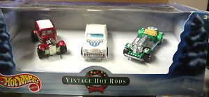 Hot Wheels 2001 Vintage Hot Rods Christmas 3 Car Set Ford Vicky Passion 16