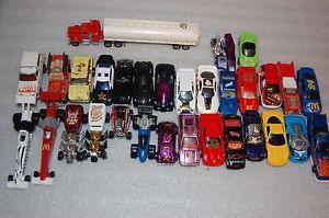 Hot Wheels Cars Fuel Truck Hot Rods Police Race Car Fire Truck Toys Lot of 31