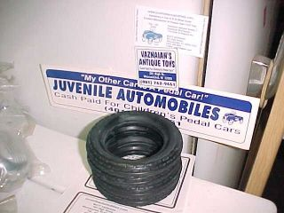1920's to 1930s Pressed Steel American National Toy Truck Tires Mint