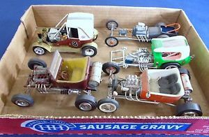 Vintage Model Car Junkyard Lot of 5 Assembled Kits Ford Hot Rods and More 3