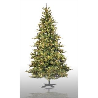 Vickerman Country Pine 7.5 Green Slim Pine Artificial Christmas Tree with 650 Pre Lit Clear Lights with Stand