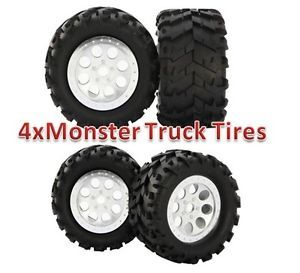 4X 1 8 RC Monster Truck Tires Wheels for HPI Savage Flux E Revo E Maxx FS318011