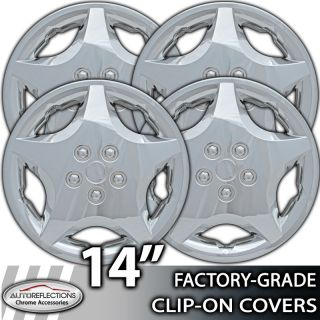 "2000 2004 Ford Focus 14"" Silver Clip on Hubcaps Wheel Covers"