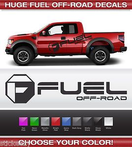 Huge Fuel Off Road Door Decals Sticker Vinyl Trucks Ford Chevy Dodge Toyota