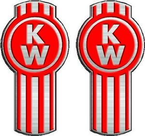 Kenworth Truck Decals Semi Trailer Wall Decal Pair