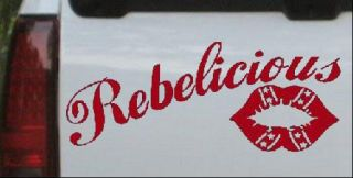 REBELICIOUS Rebel Country Girl Car Truck Window Decal Sticker Red 8x3 2
