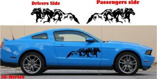 3 Horses Running Horse Farm Decal Graphic Fits Any Car Truck Trailer RV