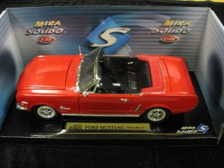1964 1 2 FORD MUSTANG CONVERTIBLE RED MIRA BY SOLIDO 1 18 CAR MINT NIB
