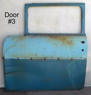 Original Vtg 1955 1956 1957 Chevy Bel Air 4 Door Car Doors Restoration Will SHIP