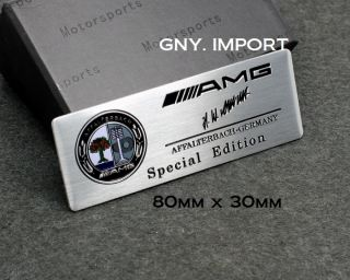 Mercedes Benz AMG Affalterbach Color Logo Sport Alloy Aluminum Badge Emblems New