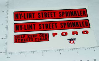 Nylint Cab Over Ford Sprinkler Truck Decals NY 023