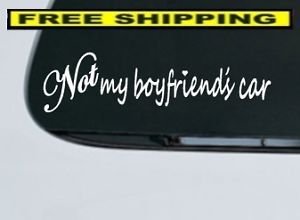 STYLE2 not My Boyfriends Car Decal JDM Euro Cute Hot Funny Window Vinyl Sticker