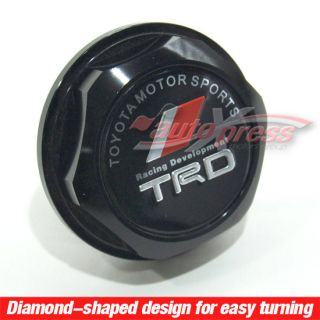 JDM Engine Oil Filler Fuel Tank Cap Aluminum Cover TRD Toyota Lexus Scion Black