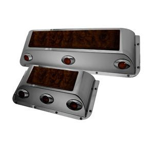 Rockwood Peterbilt Door Pockets with 3 LED Semi Truck Accessories