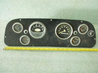 Vintage Rat Rod Old School Instrument Cluster Sun Tach Stewart Warner Gauges