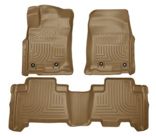 2013 Current Ford Fusion Lincoln MKZ Floor Mats Tan Husky Liners Weatherbeater