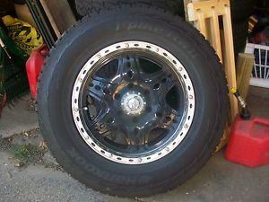 "KMC D Back Wheels and Hankook I Pike Winter Snow Tires 18x8 5 6 5 5"" 265 70 18"