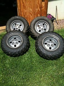 2002 Arctic Cat ATV Tires Wheels Take Offs 4x4 Stock