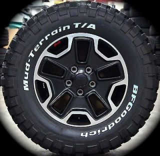 "New 5 Jeep Wrangler Rubicon 17"" Black 10th Anniversary Wheels Rims BFG Tires"