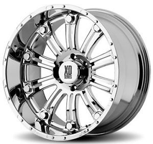 "17"" XD Series 17 inch XD795 Hoss Chrome Offroad Truck Rims Wheels Falken Tires"
