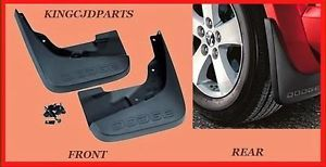 2011 2012 Front Rear Dodge Journey Molded Splash Guards Mud Flaps Mopar