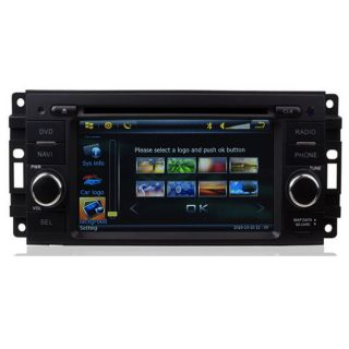 Car GPS Navigation Radio HD Touch Screen TV DVD Player for Dodge Chrysler Jeep